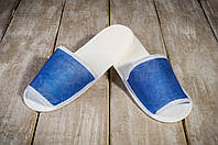 Тапочки для бани и сауны EURO TEXTILE синие, флизелиновые