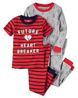 "Пижама 4в1 Carter's ""Покоритель сердец"" 2Т,3Т,4Т,5Т 3Т"