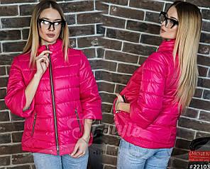 Трендовая куртка с рукавом ¾, теплая куртка на молнии, с двумя функциональными карманами., фото 2