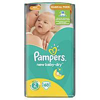 Подгузники Pampers New Baby-Dry Размер 2 (Mini) 3-6 кг 68 шт.