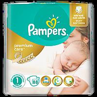Подгузники Pampers Premium Care New Born Размер 1 (Для новорожденных) 2-5 кг 88 шт.