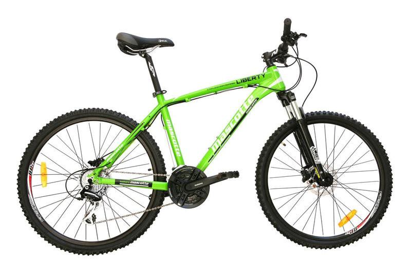 92a142e30 Горный велосипед Mascotte Liberti гидравлика Shimano 495 зеленый, цена 11  200 грн., купить в Харькове — Prom.ua (ID#511182660)