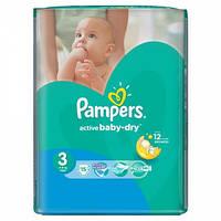 Подгузники Pampers Active Baby-Dry Размер 3 (Midi) 5-9 кг 15 шт.
