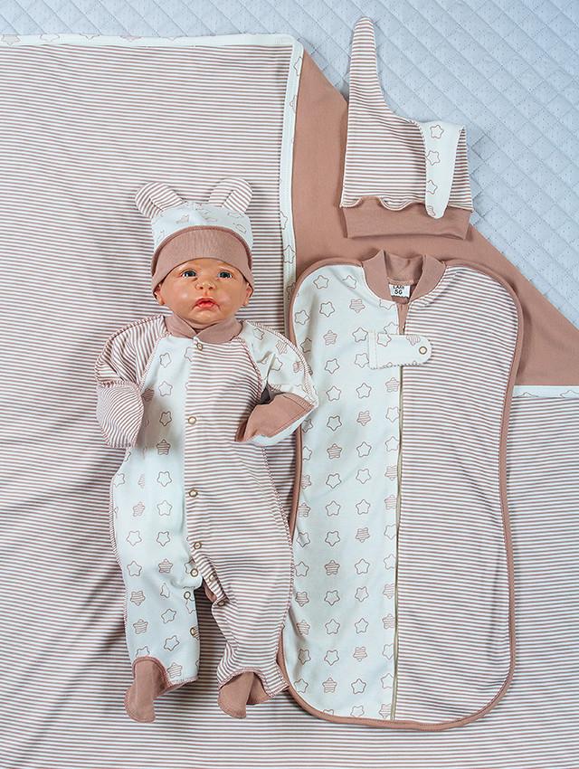 """Летний набор для новорожденных """"Стиляжки"""", 5-ти предметный"""