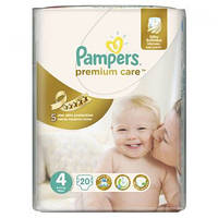 Подгузники Pampers Premium Care Размер 4 (Maxi) 8-14 кг 20 шт.