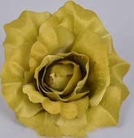 Головка розы 10см оливка Цветы искусственные