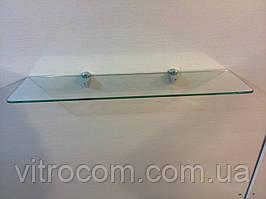 Полиця скляна пряма 4 мм прозора 50 х 15 см