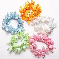 Резинка для волос набор  Подсолнухи 5 цветов светлые