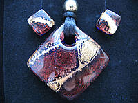 Набор подвеска+сережки из муранского стекла (Венеция), фото 1