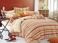 Постельное белье Home Line Авелина (оранжевый) сатин семейный