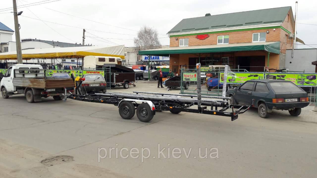 Прицеп лодочник для катера 8,6м длиной, до 3т весом. Тормоза!