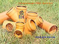 Колено ПВХ 110/87, наружная канализация