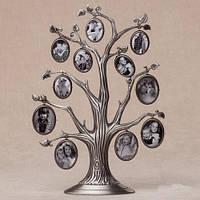 Рамка семейное дерево на 11 фото. 31 см (металл)