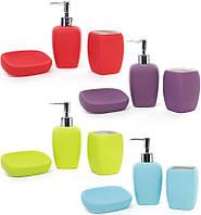 Набор аксессуаров Bright Bathroom для ванной комнаты: дозатор, стакан и мыльница
