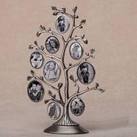 Семейное дерево на 9 фото. 28 см (металл)