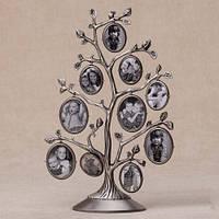 Фоторамка - дерево на 10 фото 28см (металл)