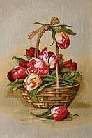 "Картина гобеленовая ""Корзина тюльпанов"""