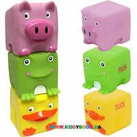 Набор игрушек для ванны Зверята-кубики Baby Team 9051