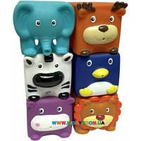 Набор игрушек для ванны Зверята-кубики Baby Team 9050