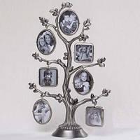 Рамка - дерево на 7 фото 26 см (металл)
