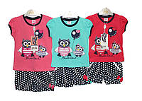 Костюмы детские на лето для девочки Pink 7097, фото 1