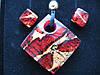 Набор подвеска+сережки, оригинальное муранское стекло