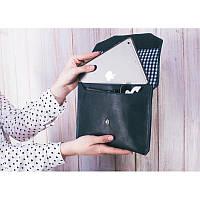 """Ручной конверт для планшета 7-8"""" Синий сапфир (кожа)"""