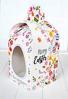 Коробка для  пасхального кулича 11х11х14 см. (Весна)