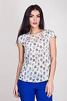 Блуза , короткий рукав арт 34-125