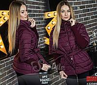 Элегантная стеганая куртка с укороченным рукавом, со съемным трикотажным рукавом.