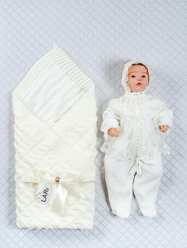 """Літній набір для новонароджених """"Мальвіна лапочка"""", молочний, 3-х предметний"""