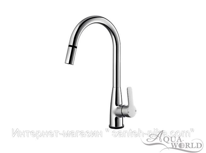 Смеситель для кухни KITСHEN TCT(сенсорный) с вытяжным изливом СМ40Кт.16.Aqua-World
