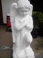 Надгробие ангел. Ангел молящийся №12 из бетона