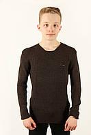 Свитер мужской Cottre 1504 коричневый Размеры M L