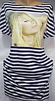 Платье в полоску женское (вискоза) Paris Hilton