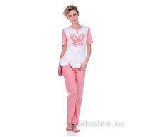 Комплект женский Miss First Butterfly розовый S футболка+капри