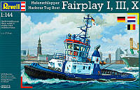 Портовый буксир Harbour Tug Boat Fairplay I,III,X (2007/2009 гг. Германия), 1:144, Revell