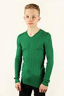 Свитер мужской Cottre 4508 зеленый Размеры M L XL