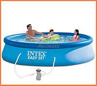 Надувной бассейн Intex 28142 с насосом | Easy Set - 396 х 84 см