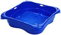 Песочница квадратная синяя, 76.5 × 76.5 × 20 см, StarPlay