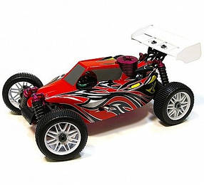 Автомобиль Thunder Tiger EB-4 S2.5 Nitro PRO Buggy 1:8 RTR 490 мм 4WD 2,4 ГГц (6243-F111)