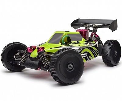 Автомобиль Thunder Tiger EB-4 S2.5 Nitro PRO Buggy 1:8 RTR 490 мм 4WD 2,4 ГГц (6243-F114)