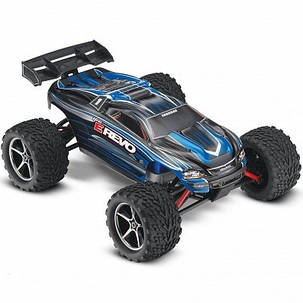 Автомобиль Traxxas E-Revo Monster 1:16 RTR 328 мм 4WD 2,4 ГГц (71054-1 Blue), фото 2