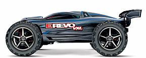 Автомобиль Traxxas E-Revo VXL Brushless Monster 1:16 RTR 328 мм 4WD TSM 2,4 ГГц (71076-3 Blue), фото 3
