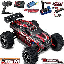 Автомобиль Traxxas E-Revo VXL Brushless Monster 1:16 RTR 328 мм 4WD TSM 2,4 ГГц (71076-3 Red), фото 2