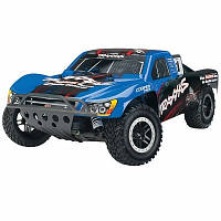 Автомобиль Traxxas Nitro Slash Short Course 1:10 RTR 565 мм 2WD TSM 2,4 ГГц (44056-3 Blue)