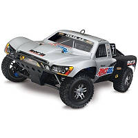 Автомобиль Traxxas Slayer Pro 4X4 Nitro Short Course 1:10 RTR 598 мм 4WD 2,4 ГГц (59076-1 Silver)
