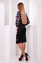 Платье в украинском стиле черное и белое 50-54, фото 3