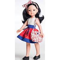 Кукла Paola Reina Лилу в красно-синей юбке 32 см (04508)