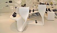 Акриловый камень в дизайне торговых помещений